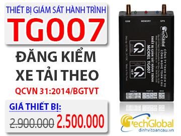 Lắp thiết bị giám sát hành trình TG007 được giảm 50% phí phần mềm năm đầu tiên