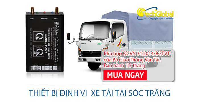 Gắn thiết bị định vị xe tải tại Sóc Trăng chất lượng giá rẻ