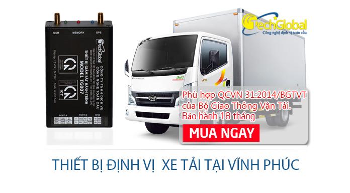 Lắp thiết bị định vị xe tải tại Vĩnh Phúc hợp chuẩn giá rẻ