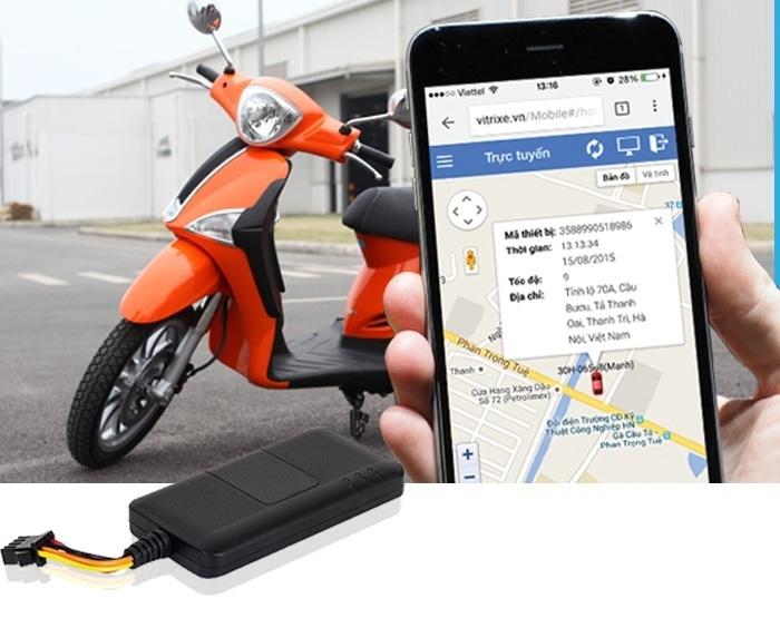 Thiết bị định vị xe máy giá rẻ hỗ trợ quản lý hành trình xe hiệu quả