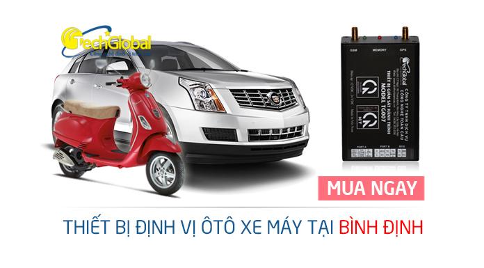 Lắp thiết bị định vị tại Bình Định cho ô tô xe máy
