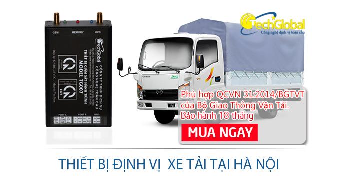 Lắp đặt thiết bị định vị xe tải tại Hà Nội chính hãng