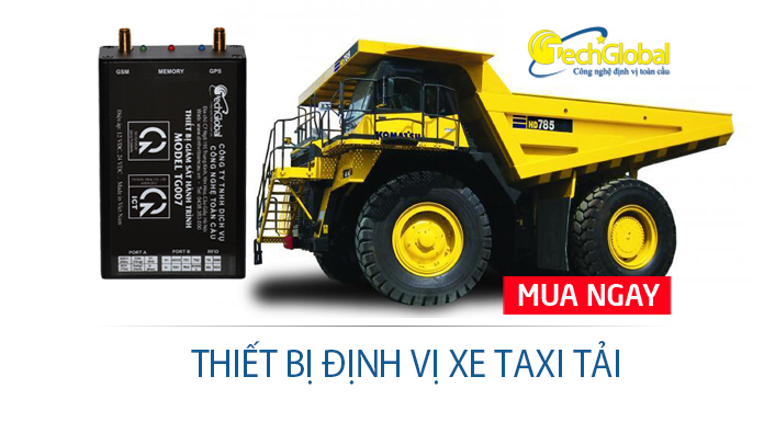 Thiết bị định vị xe taxi tải tại TPHCM