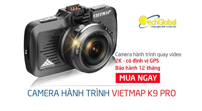 Camera hành trình Vietmap K9 Pro hỗ trợ lái xe chuyên nghiệp