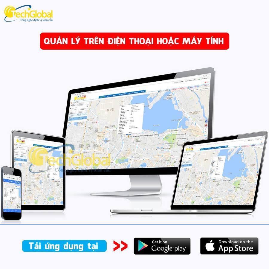 Thiết bị định vị A1 mini hỗ trợ quản lý giám sát hành trình xe trực tuyến trên Apps và Webs