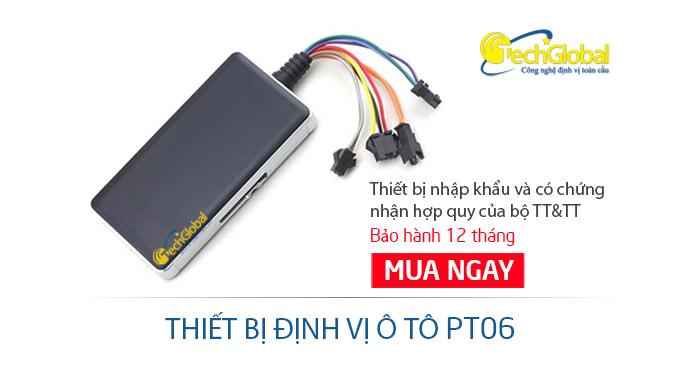Thiết bị định vị ô tô PT06 - Hợp quy GSM