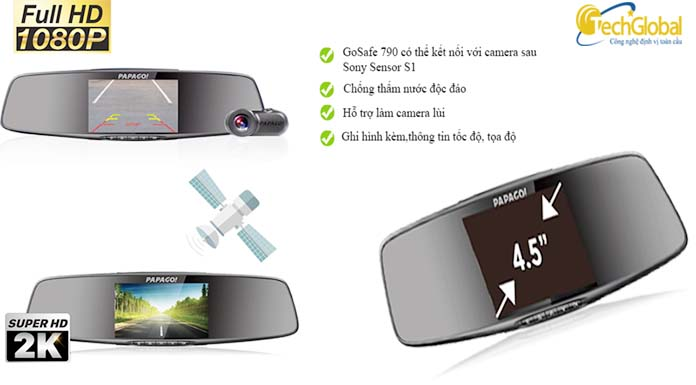 Camera giám sát hành trình 790 chính hãng do Techglobal cung cấp