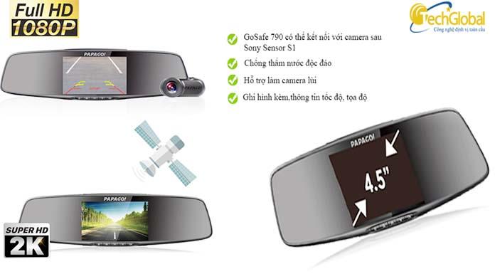 Camera hành trình gương Vietmap Gosafe 790 cao cấp