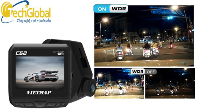 Camera hành trình C62 hỗ trợ ghi hình siêu rõ nét cả ngày và đêm