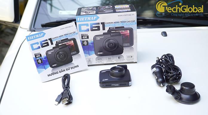 Trọn bộ camera hành trình Vietmap C61 chính hãng