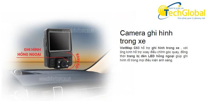 Camera hành trình VietmapC63 có camera trong xe là camera hồng ngoại