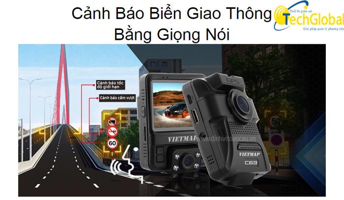 Camera hành trình ô tô C63 có các cảnh báo giúp lái xe an toàn