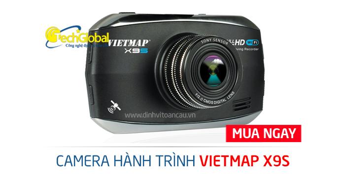 Camera hành trình Vietmap X9S với góc quay rộng đến 170 độ