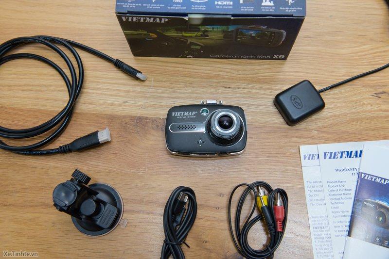 Bộ sản phẩm camera hành trình ô tô X9.