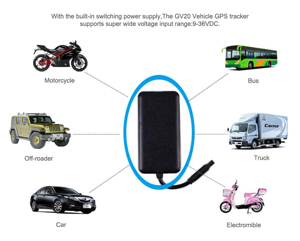 Thiết bị định vị GV20 mang đến giải pháp quản lý giám sát hành trình cho xe máy ô tô