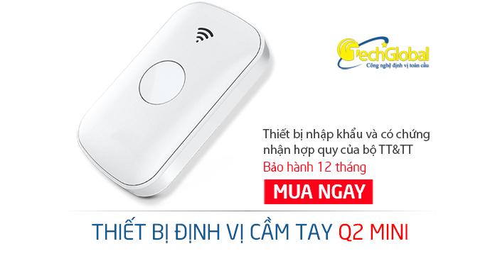 Thiết bị định vị cầm tay Q2 mini mới nhất 2018