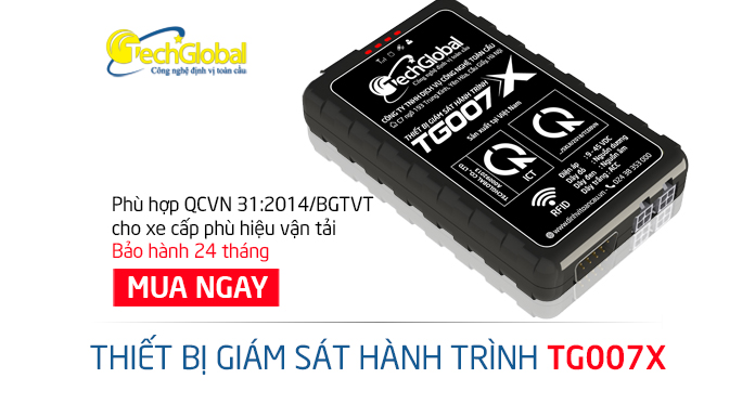 Thiết bị giám sát hành trình TG007X của Techglobal