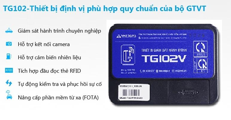 Thiết bị giám sát hành trình TG102V tích hợp nhiều tính năng ưu việt