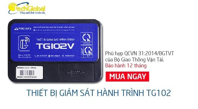 Thiết bị giám sát hành trình hợp chuẩn BGTVT TG102V