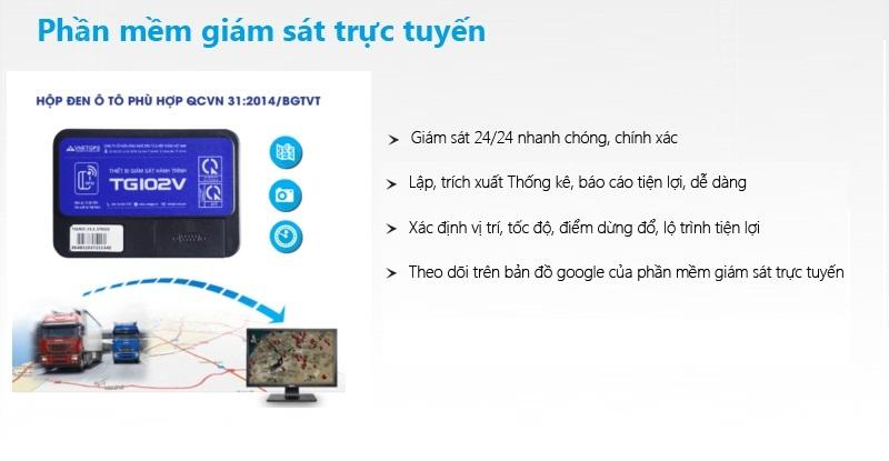 Thiết bị giám sát hành trình TG102V hỗ trợ quản lý giám sát hành trình xe trực tuyến
