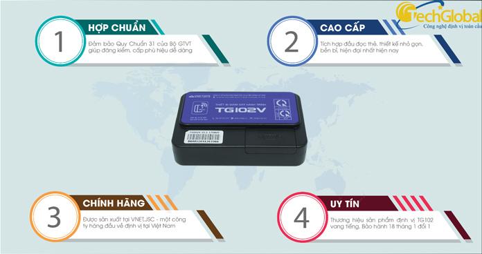 Thiết bị giám sát hành trình TG102V do Techglobal cung cấp